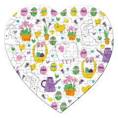 Cute Easter pattern Jigsaw Puzzle (Heart)