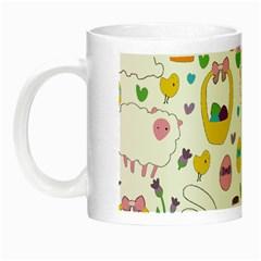 Cute Easter pattern Night Luminous Mugs