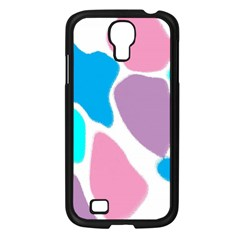 Baby Pink Girl Party Pattern Colorful Background Art Digital Samsung Galaxy S4 I9500/ I9505 Case (black)