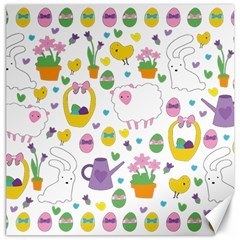 Cute Easter pattern Canvas 12  x 12