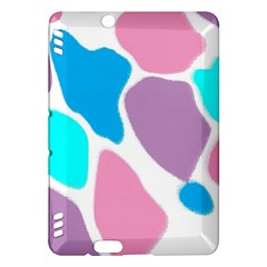 Baby Pink Girl Party Pattern Colorful Background Art Digital Kindle Fire HDX Hardshell Case