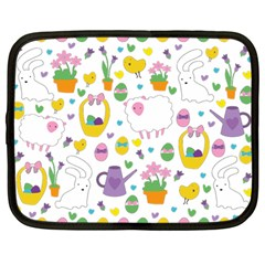Cute Easter pattern Netbook Case (Large)