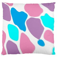 Baby Pink Girl Party Pattern Colorful Background Art Digital Standard Flano Cushion Case (One Side)