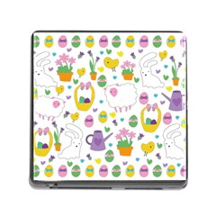 Cute Easter pattern Memory Card Reader (Square)