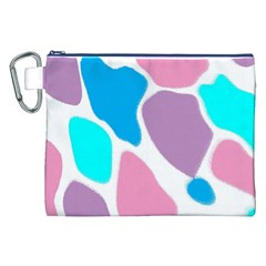 Baby Pink Girl Party Pattern Colorful Background Art Digital Canvas Cosmetic Bag (XXL)