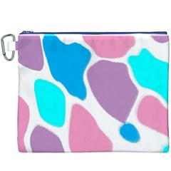 Baby Pink Girl Party Pattern Colorful Background Art Digital Canvas Cosmetic Bag (xxxl)