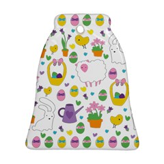 Cute Easter pattern Bell Ornament (Two Sides)