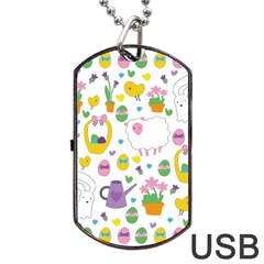 Cute Easter pattern Dog Tag USB Flash (Two Sides)