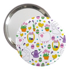 Cute Easter pattern 3  Handbag Mirrors