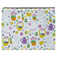 Cute Easter pattern Cosmetic Bag (XXXL)
