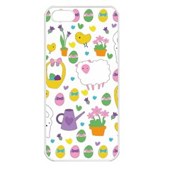 Cute Easter pattern Apple iPhone 5 Seamless Case (White)