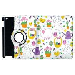 Cute Easter pattern Apple iPad 3/4 Flip 360 Case