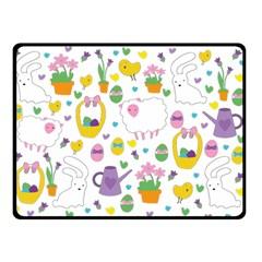 Cute Easter pattern Double Sided Fleece Blanket (Small)