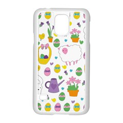 Cute Easter pattern Samsung Galaxy S5 Case (White)