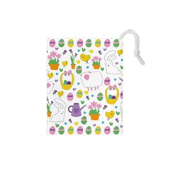 Cute Easter pattern Drawstring Pouches (Small)