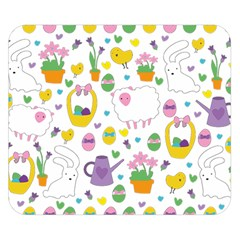 Cute Easter pattern Double Sided Flano Blanket (Small)