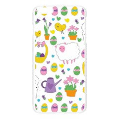 Cute Easter pattern Apple Seamless iPhone 6 Plus/6S Plus Case (Transparent)