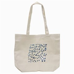Water Drops On White Background Tote Bag (cream)
