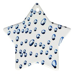 Water Drops On White Background Star Ornament (Two Sides)