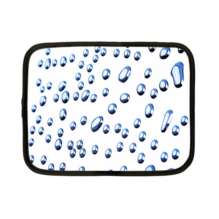 Water Drops On White Background Netbook Case (Small)