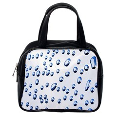 Water Drops On White Background Classic Handbags (One Side)