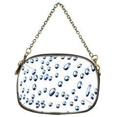 Water Drops On White Background Chain Purses (One Side)