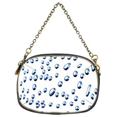 Water Drops On White Background Chain Purses (Two Sides)