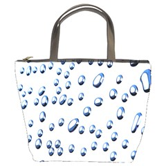 Water Drops On White Background Bucket Bags