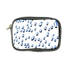 Water Drops On White Background Coin Purse