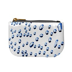 Water Drops On White Background Mini Coin Purses