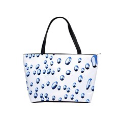Water Drops On White Background Shoulder Handbags