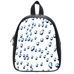 Water Drops On White Background School Bags (Small)