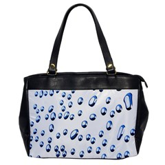 Water Drops On White Background Office Handbags