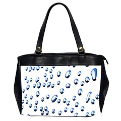 Water Drops On White Background Office Handbags (2 Sides)