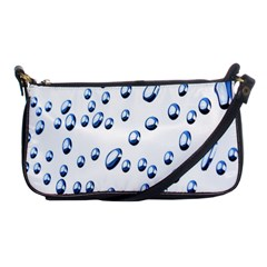 Water Drops On White Background Shoulder Clutch Bags