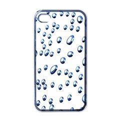 Water Drops On White Background Apple iPhone 4 Case (Black)
