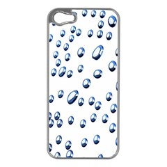 Water Drops On White Background Apple iPhone 5 Case (Silver)