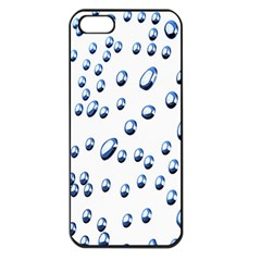 Water Drops On White Background Apple Iphone 5 Seamless Case (black)
