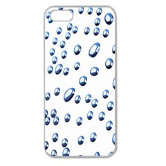 Water Drops On White Background Apple Seamless Iphone 5 Case (clear)