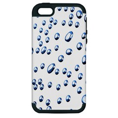 Water Drops On White Background Apple Iphone 5 Hardshell Case (pc+silicone)
