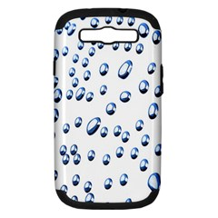 Water Drops On White Background Samsung Galaxy S Iii Hardshell Case (pc+silicone)