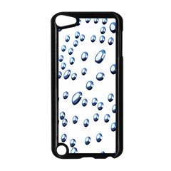 Water Drops On White Background Apple iPod Touch 5 Case (Black)