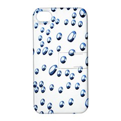 Water Drops On White Background Apple iPhone 4/4S Hardshell Case with Stand
