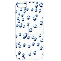 Water Drops On White Background Apple iPhone 5 Hardshell Case with Stand
