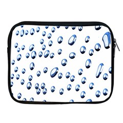Water Drops On White Background Apple Ipad 2/3/4 Zipper Cases