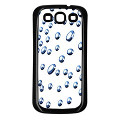 Water Drops On White Background Samsung Galaxy S3 Back Case (Black)