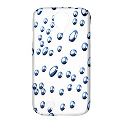 Water Drops On White Background Samsung Galaxy S4 Classic Hardshell Case (pc+silicone)