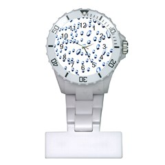 Water Drops On White Background Plastic Nurses Watch
