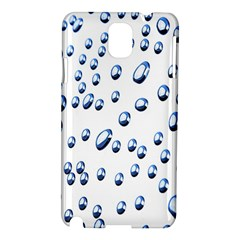 Water Drops On White Background Samsung Galaxy Note 3 N9005 Hardshell Case
