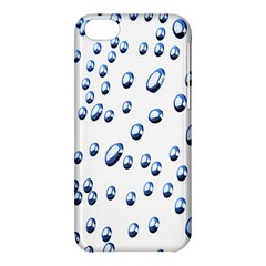 Water Drops On White Background Apple iPhone 5C Hardshell Case